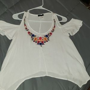 Adorable embroidered summer top